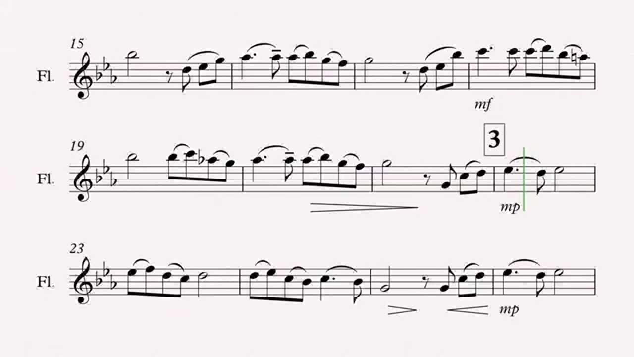 Song From a Secret Garden (flute sheet music) Multimedia