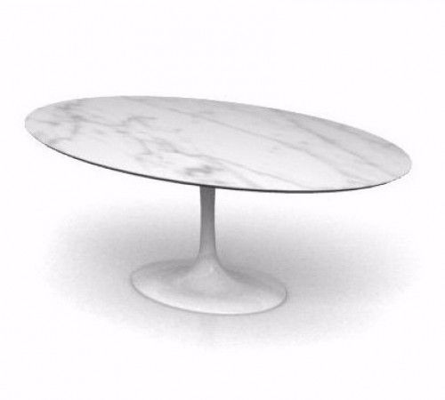 tulip oval dining table by eero saarinen oval white carrara marble top w169cm x d111cm x h72cm. Black Bedroom Furniture Sets. Home Design Ideas