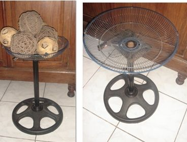 upcycling an electric fan grill & base
