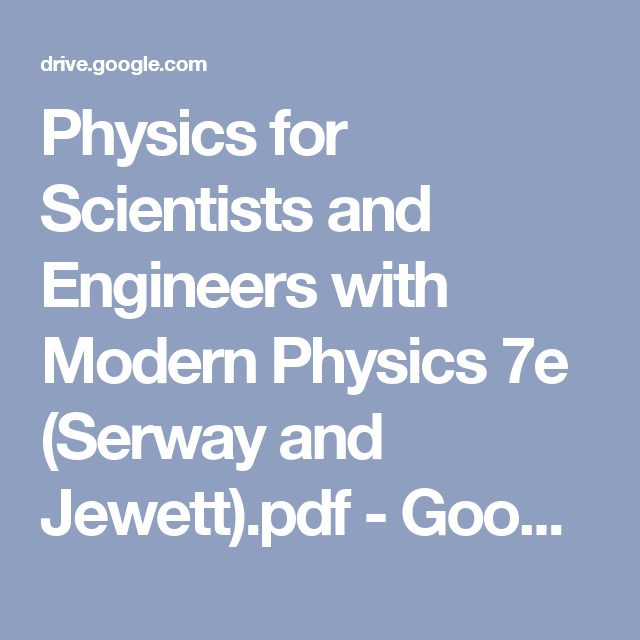 Modern Physics Serway Pdf