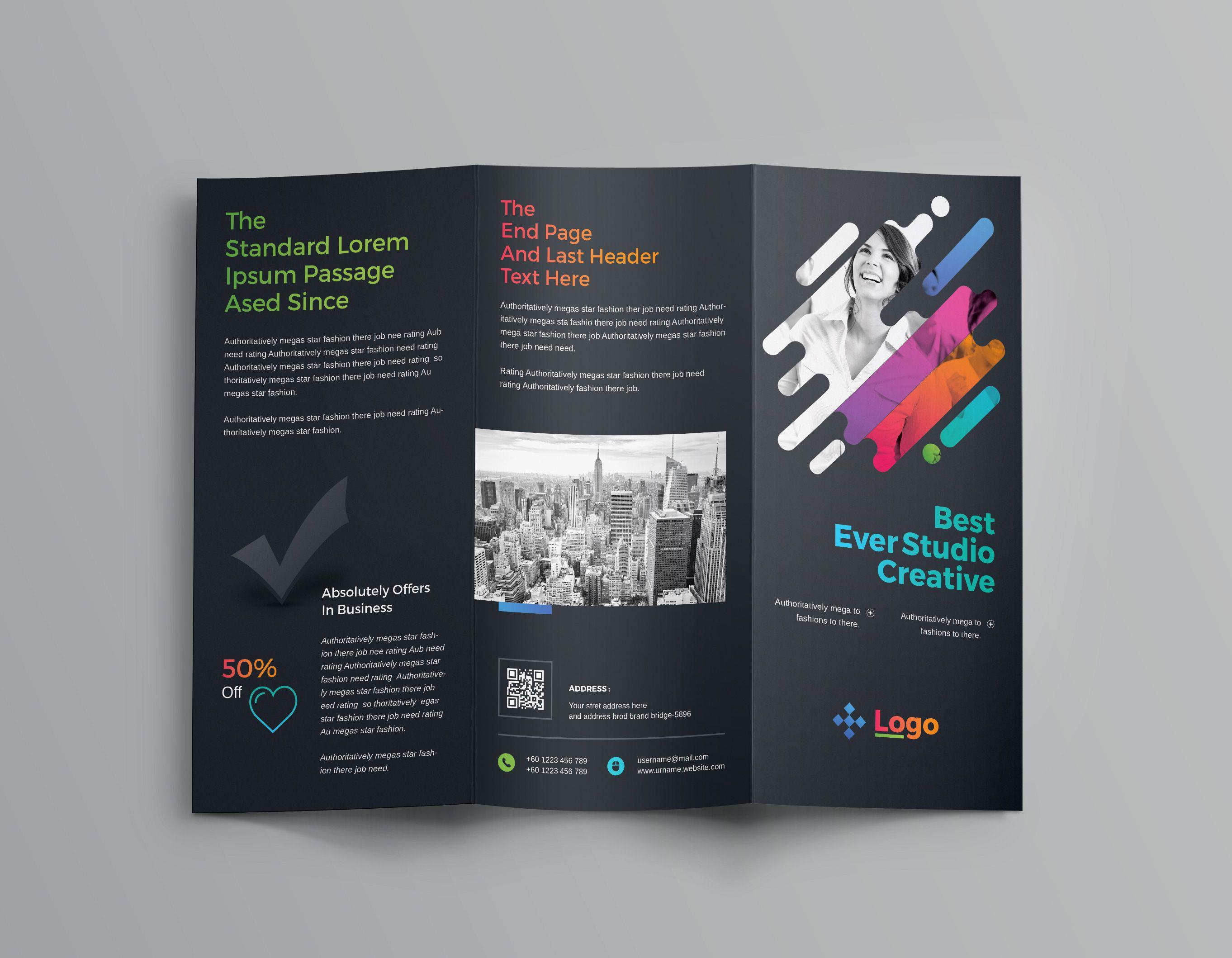 Colorful Professional Tri Fold Brochure Template Brochure
