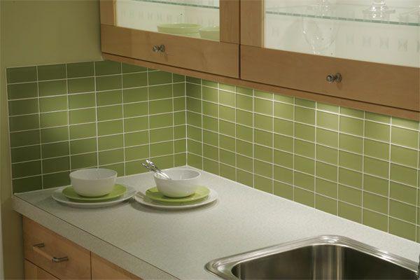 Piastrella da cucina da pavimento in vetro a tinta unita