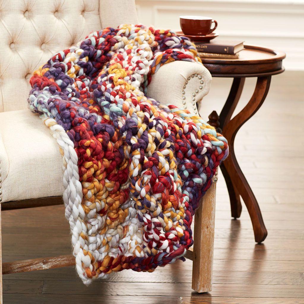 Loops & Threads™ Chunky Grande Finger Crochet Throw | Yarn | Finger
