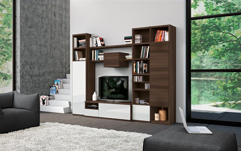 Living Room Cabinets Designs Inspiration Impressive Living Room Wall Cabinet And Shelving Unit For Book Decorating Design