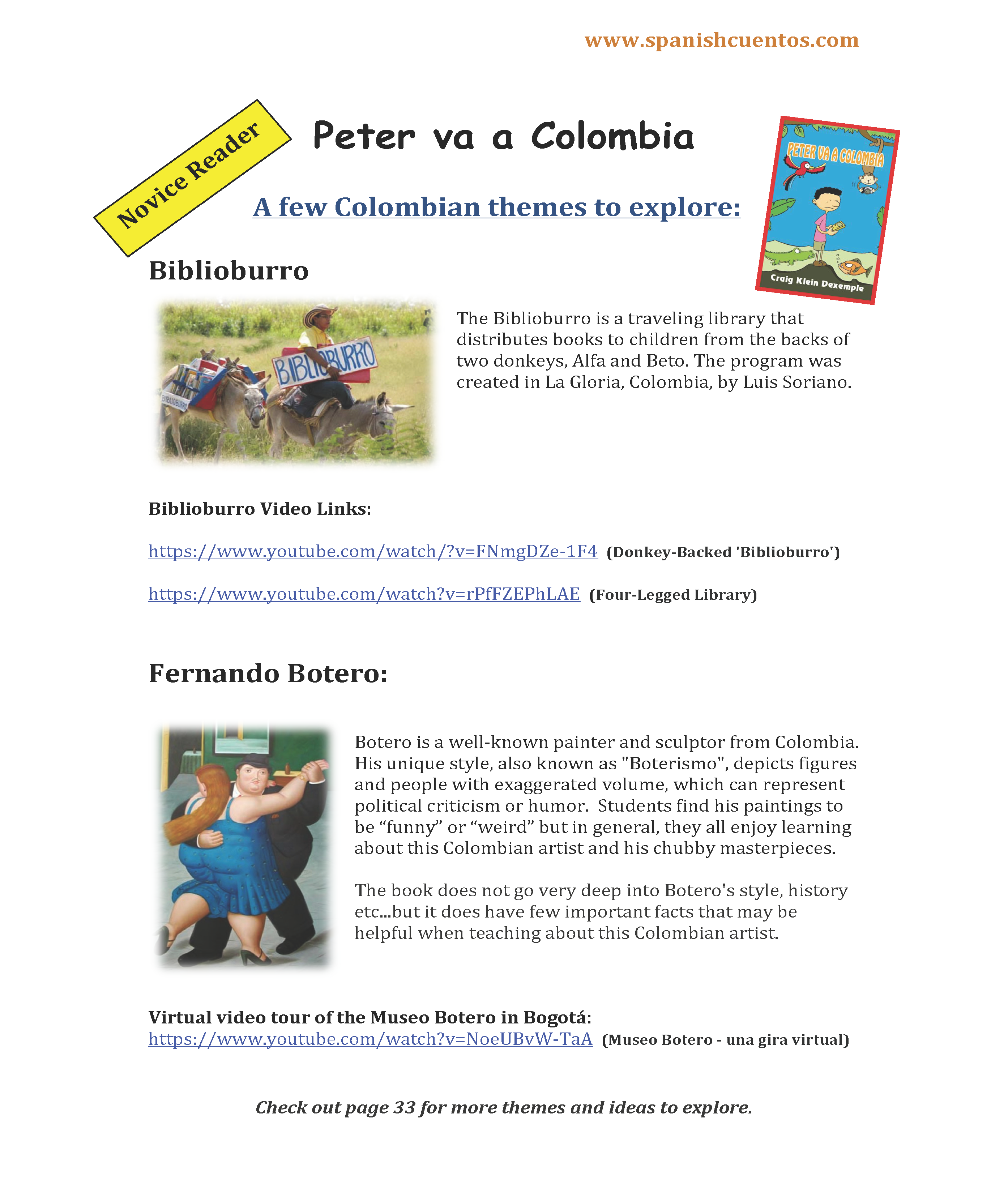 Themes To Explore When Reading Peter Va A Colombia An