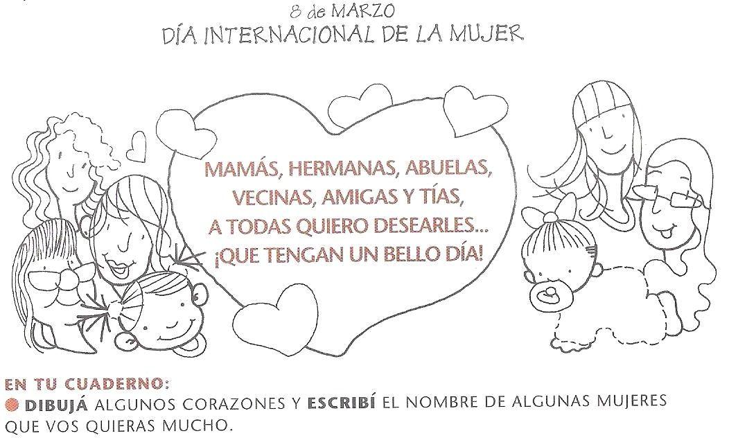 Fichas Dia Internacional De La Mujer Lectoescritura Pinterest