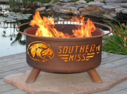 Southern Miss Golden Eagles Fire Pit