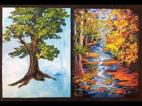 17 The Lazy Artist S Way To Paint Beautiful Trees In 10 Minutes