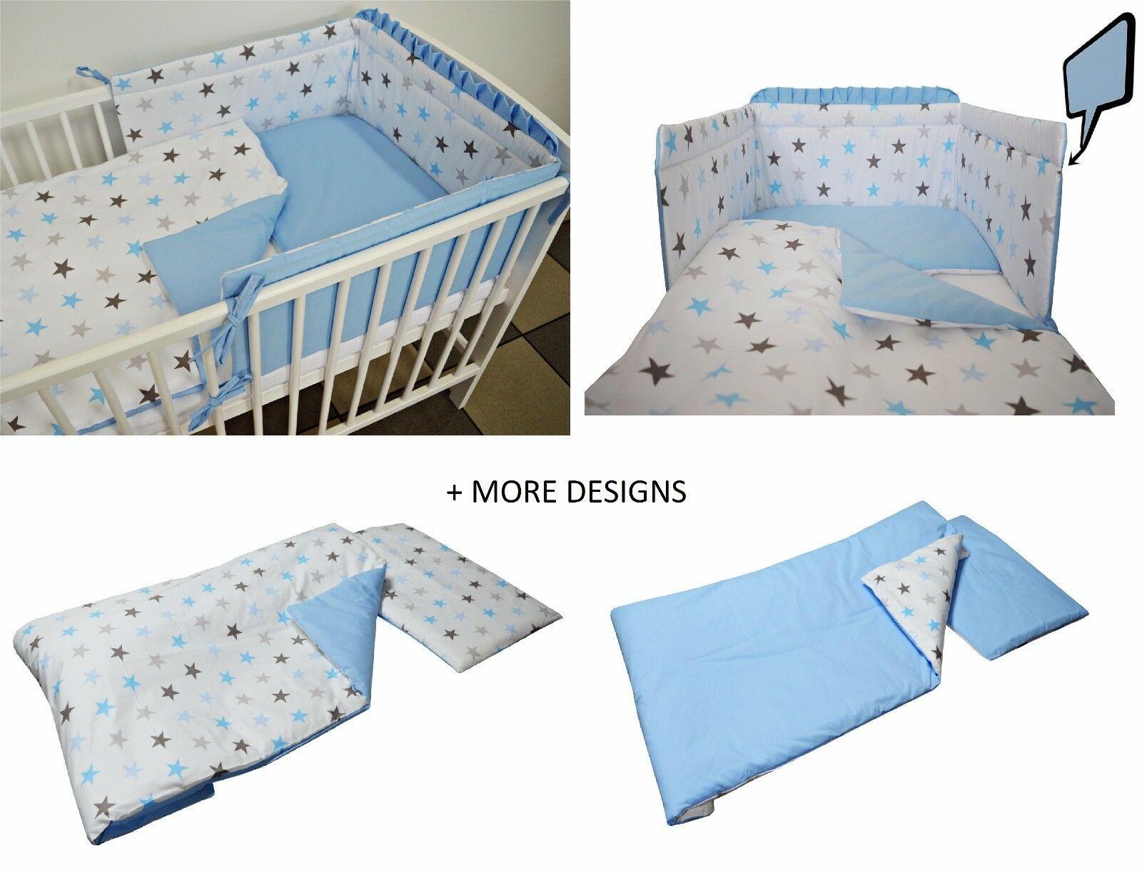 Blue Grey Stars Blue Baby Bedding Set Cot Cot Bed Bumperduvet