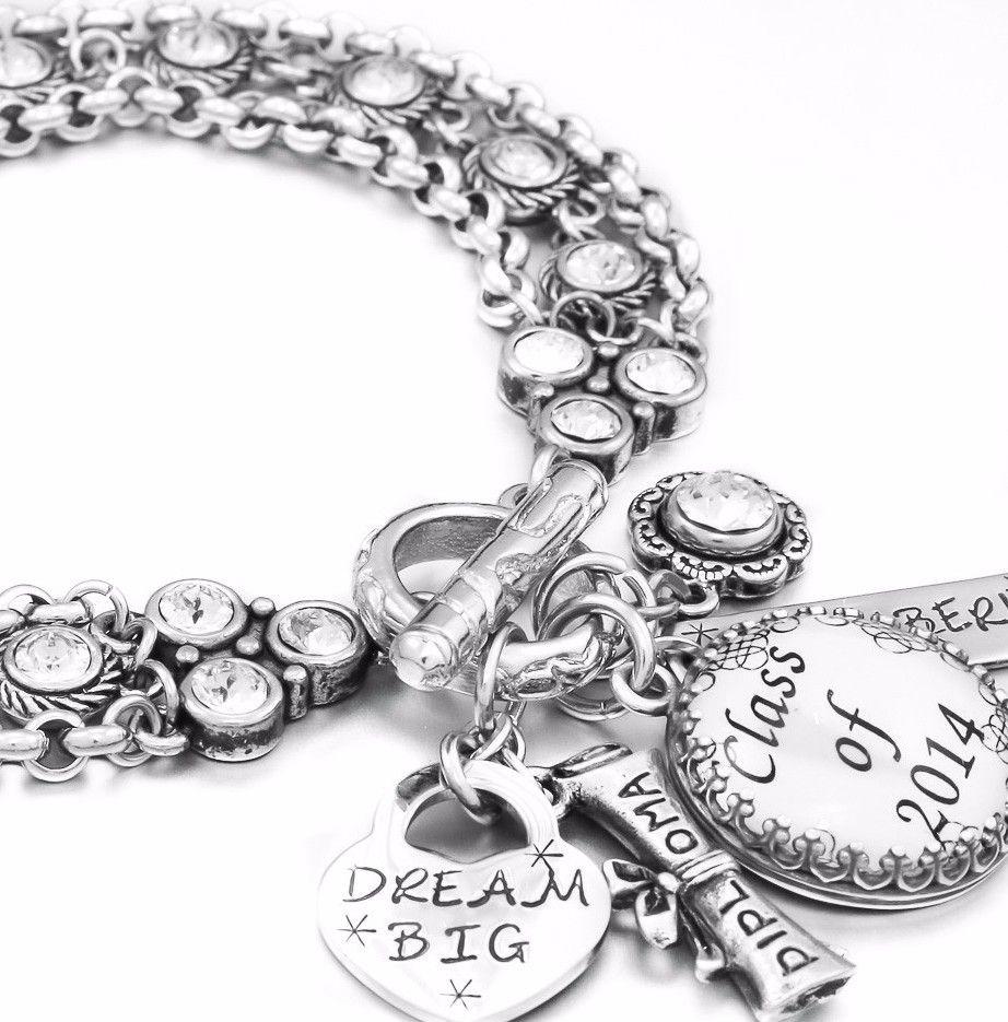 Jewellery Calendar Design : Graduation charm bracelet gifts bracelets