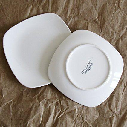 Dauerhaft Dinnerware 10 1/2u2033 Porcelain Square Dinner Plate/Square Lunch Plate / & Dauerhaft Dinnerware 10 1/2u2033 Porcelain Square Dinner Plate/Square ...