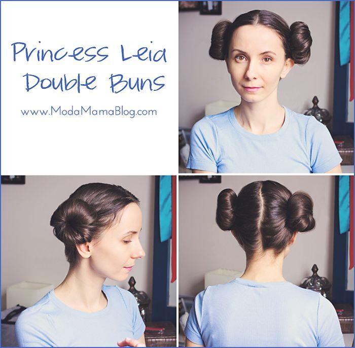 modamama hair tutorial princess leia double buns haha