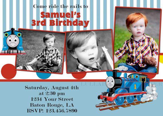 Babies Custom Thomas Train Invitation