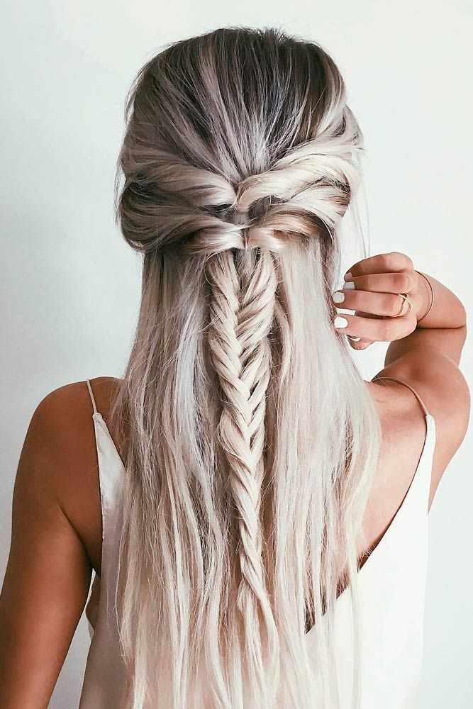 Fishtail Braid Hairstyles Gorgeous 15 Alltime And Fun Fishbone Braids  Braid Hairstyles French Braid