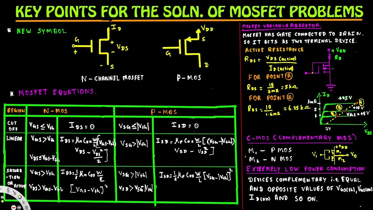 Key Points For The Solution Of Mosfet Problems Analog Circuits Simple Fet Amplifier Electronic And Diagramelectronics Electro