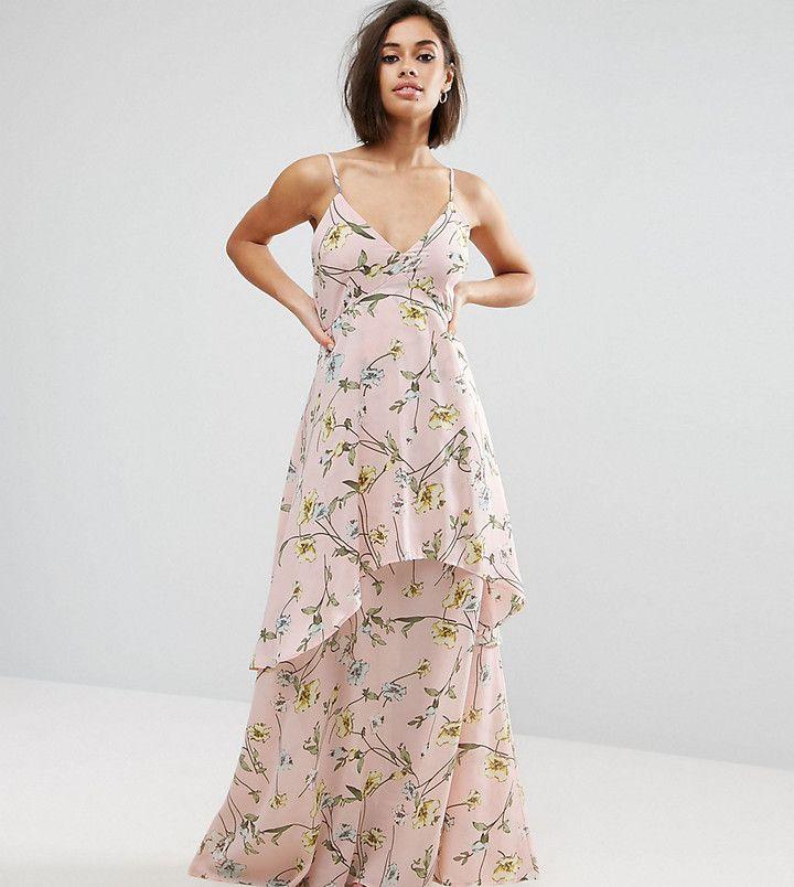 Boohoo Petite Floral Chiffon Maxi Dress Dresses Chiffon Maxi