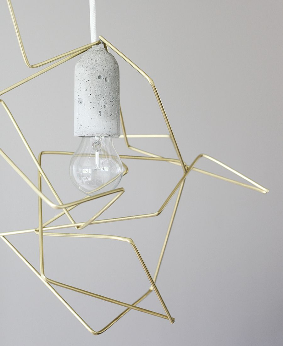 Diy geometric lampshade light bulb twine and bulbs diy geometric lampshade this diy geometric lampshade proves that home made objects can truly take on sleek and glossy appearances given a clear concept greentooth Gallery
