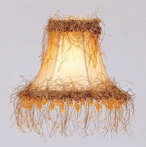 Livex lighting s112 bell clip chandelier shade with light corn silk livex lighting s112 bell clip chandelier shade with light corn silk fringe and beads champagne silk aloadofball Image collections