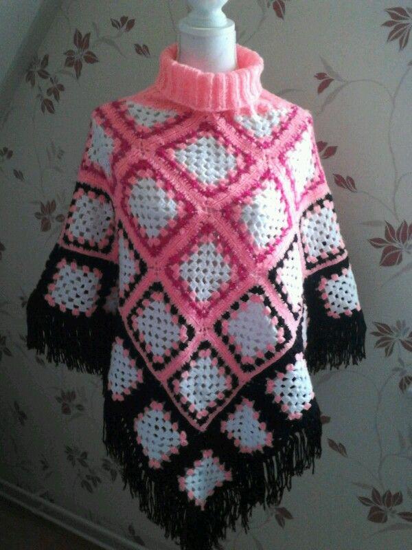 Poncho crochet | abrigos y ponchos (coats) | Pinterest | Ponchos ...
