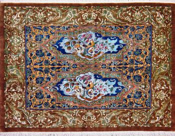 Qum Persian Rug Handmade