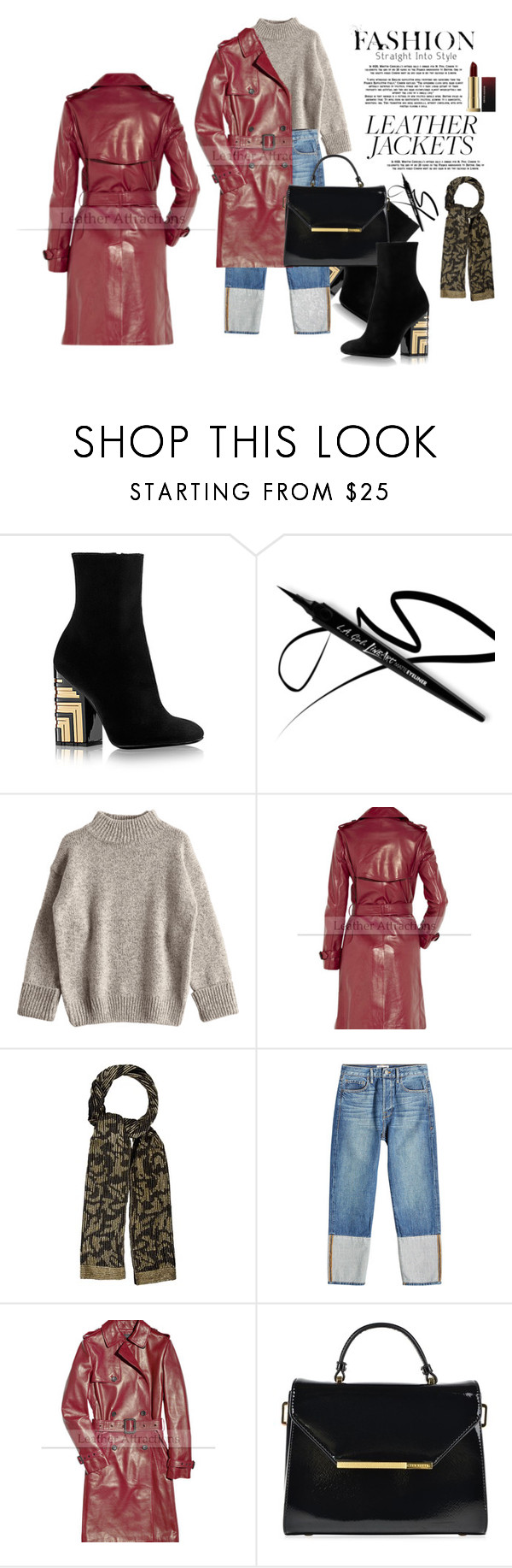 """""""Leather Jackets"""" by liviagb ❤ liked on Polyvore featuring Adrienne Landau, Frame, Ted Baker, simple and leatherjackets"""