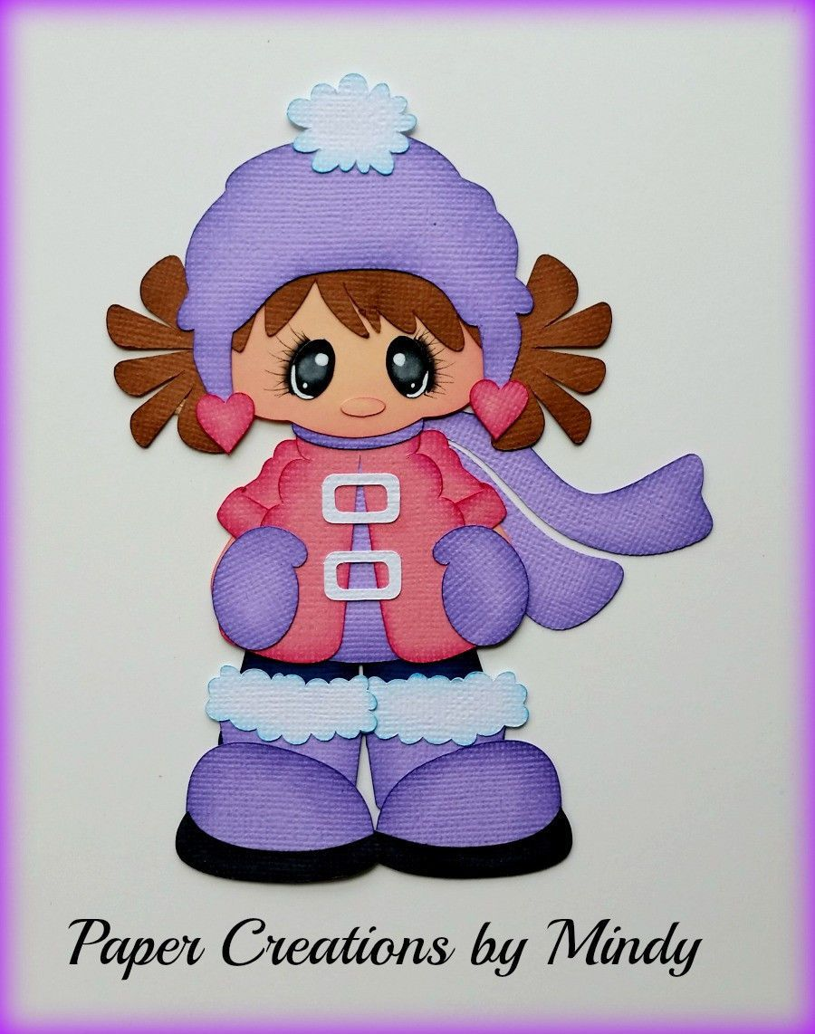 Craftecafe Mindy Winter Snow girl premade paper piecing for ...