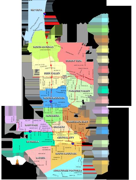 Phoenix Az Urban Villages Map Urban Village Village Urban