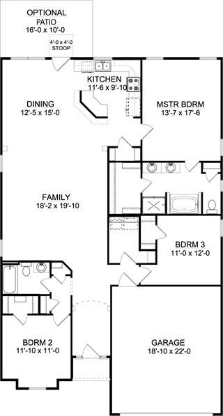 The Chestnut A Slab House Plan For Jacksonville Fl