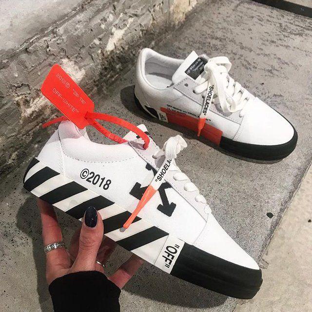 White Striped Vulcanized Sneakers