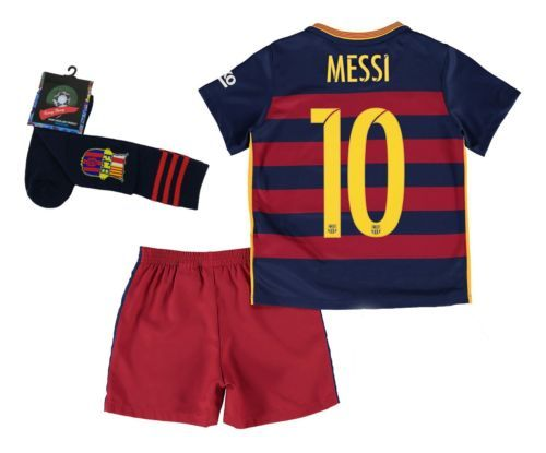 NEW-Barcelona-10-Messi-Home-Kids-Soccer-Jersey-Shorts-Long-Socks-Youth-Size                                           ebay  לכבוד פתיחת העונה  ... e99c479fb