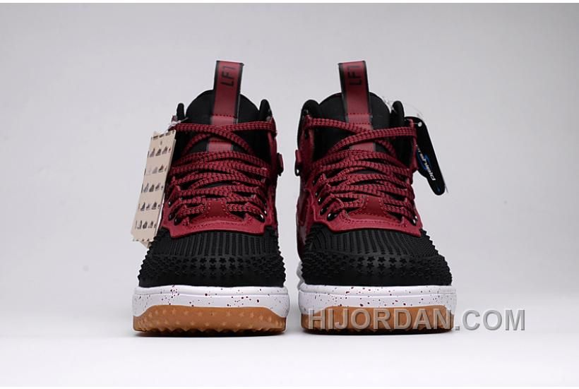 NIKE LUNAR FORCE 1 DUCKBOOT 805999 00l Black Burgundy 40 47
