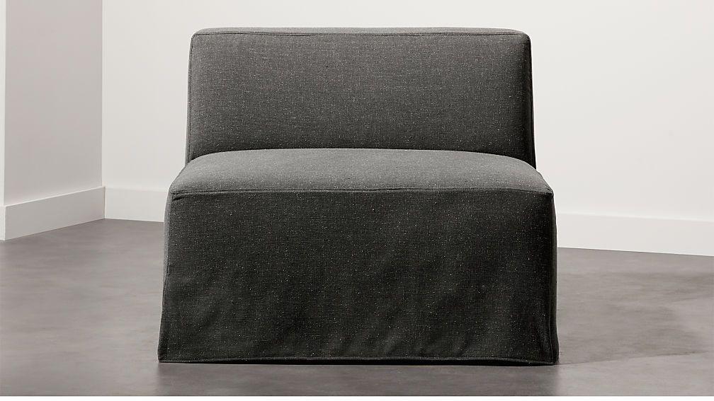 Slipcover Grey Modular Armless Chair Armless chair