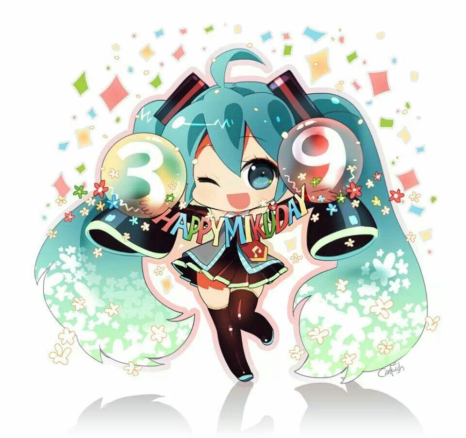 Chibi Hatsune Miku Vocaloid Vocaloid Pinterest