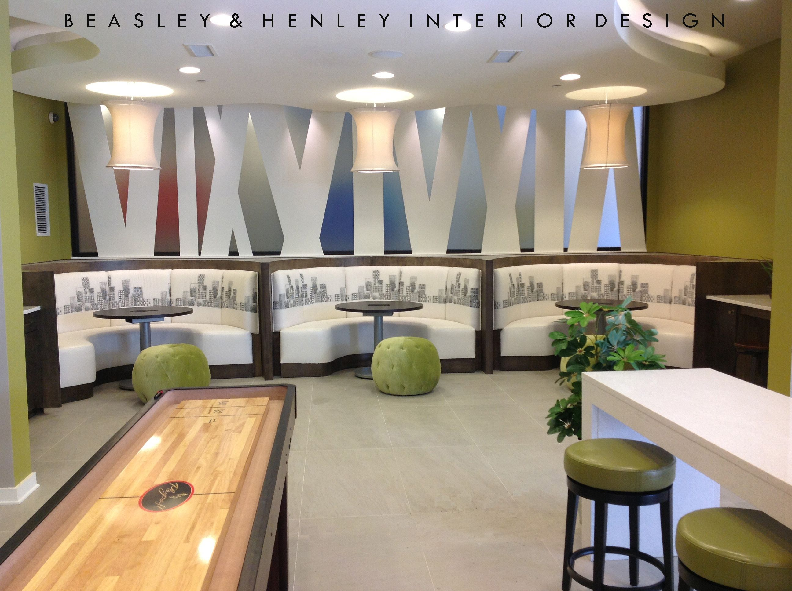 Cyber Cafe With Curved Benches Custom Internet Tables And Side Seating That Is Mobile For