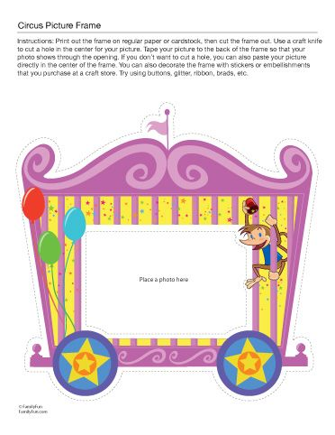 Circus Train Photo Frame (Printable Activity for Kids) | Spoonful ...