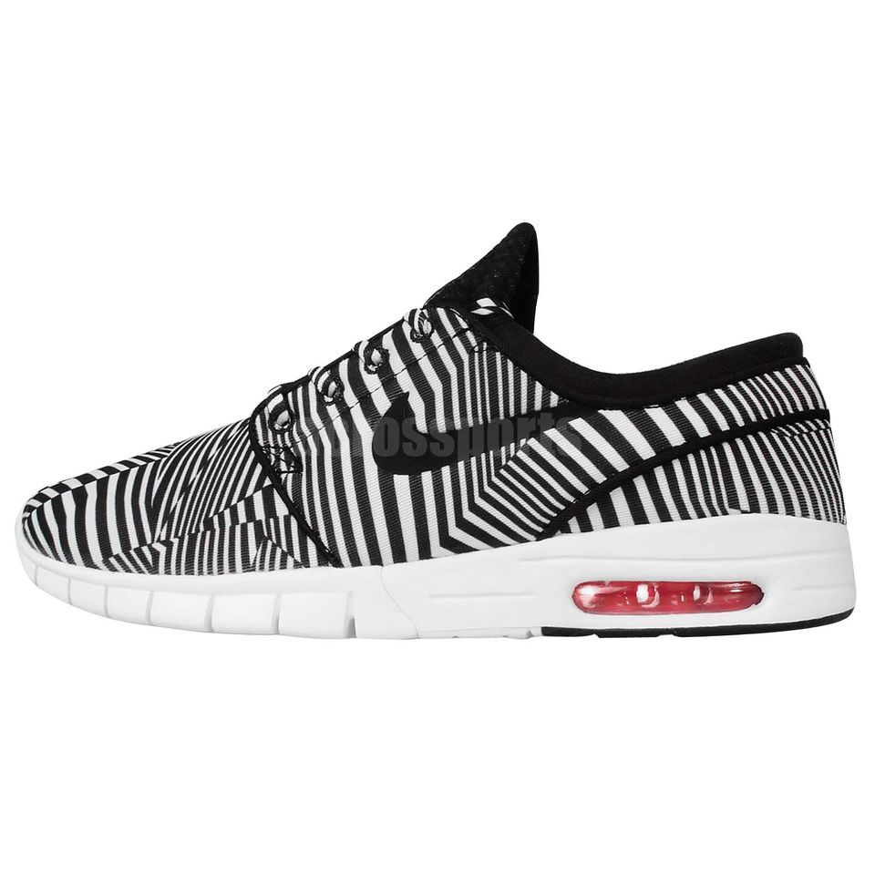 Nike Stefan Janoski Max QS Dazzle Black White Air 2015 Mens Skateboarding Shoes Check full collections at: http://www.ebay.com.au/cln/acrossports/Mens-Black-White-Collection/183786634016