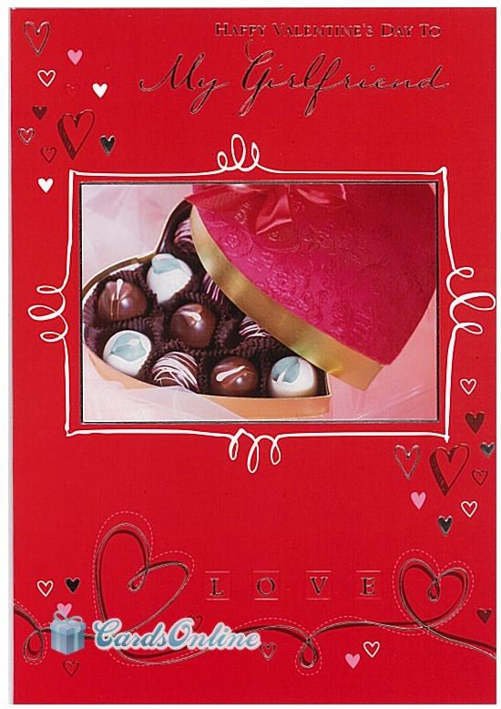 399 to my girlfriend on valentines day front of card features contemporary design