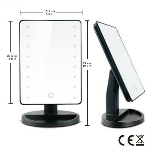 Portable Vanity Mirror With Lights New Amazon  16 Led Makeup Mirror With Lights And Tray  Hollywood Design Ideas