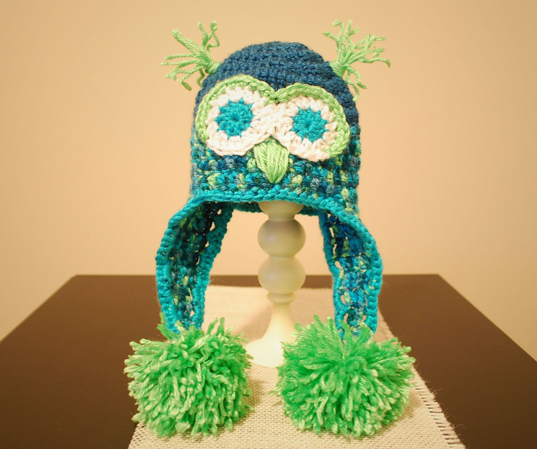 Baby Crochet Owl Hat 0-3 mos: Free Pattern | gorro | Pinterest ...