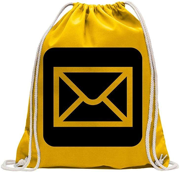 e455a1ba0ff8c Kiwistar Poststelle Postamt Piktogramme Turnbeutel Fun Rucksack Sport  Beutel Gymsack Baumwolle mit Ziehgurt  Amazon.