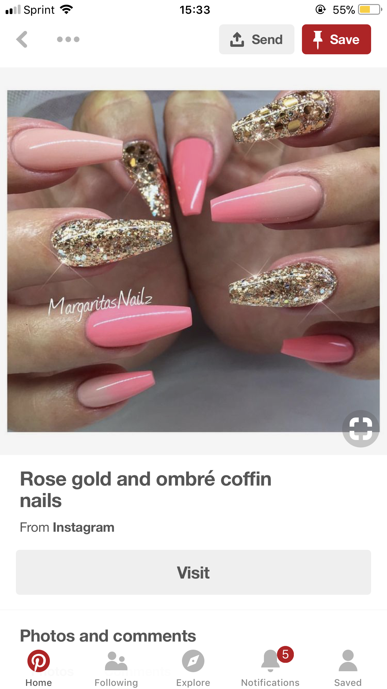 Baby shower girl nails in 2019