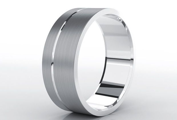 Mens Tungsten Wedding Band 8mm Brushed Custom Ring Unique
