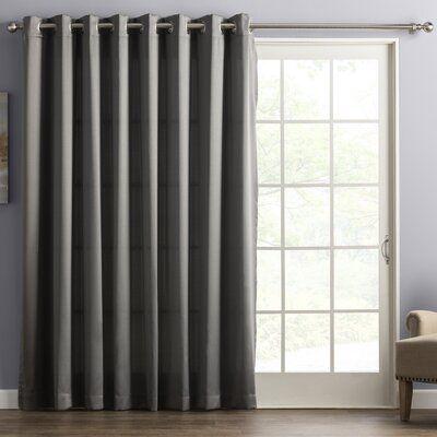 Basics Wayfair Basics Solid Room Darkening Grommet Single Curtain Panel Panel Curtains Patio Curtains Colorful Curtains