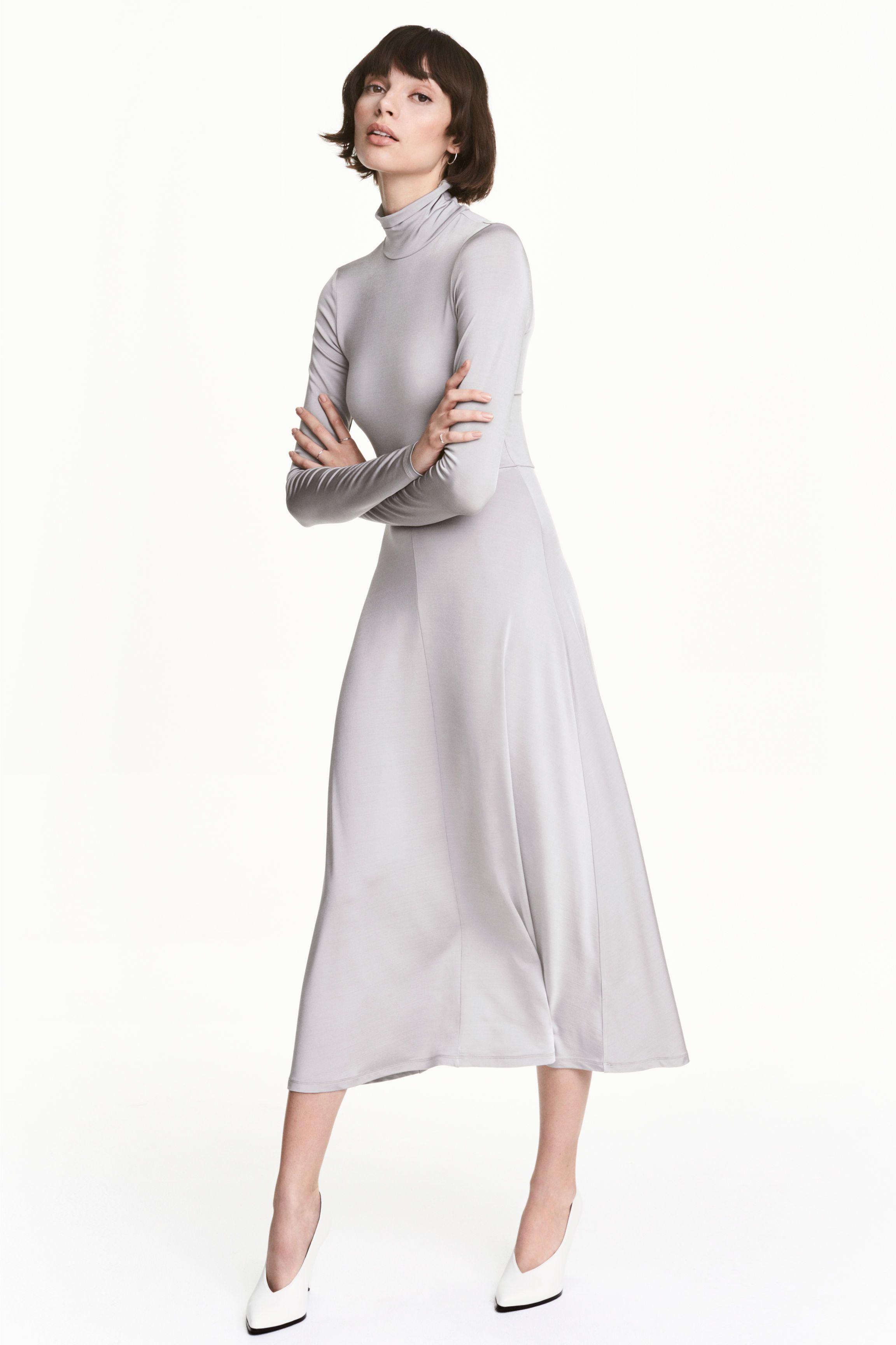 6a557fbe7609d2 Maxi-jurk met col