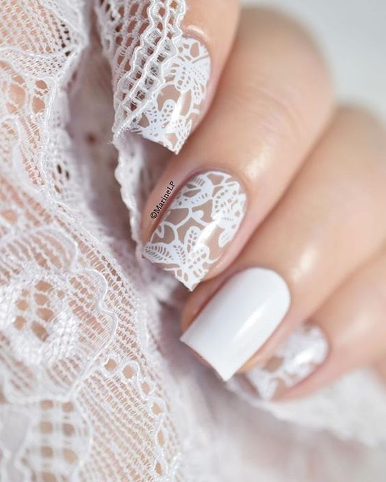 Dont Want A Standard French Manicure For Your Wedding Day No Problem Youre Going To Fall In Love With These Totally Subtle And Gorgeous Nail Art Ideas