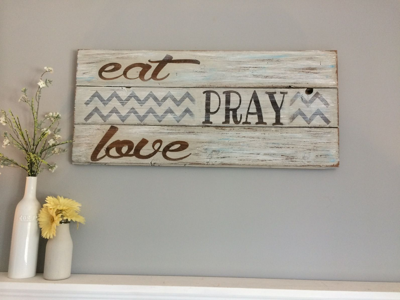 Kitchen Decor Signs eat pray love rustic kitchen décor | hillcraft designs signs and