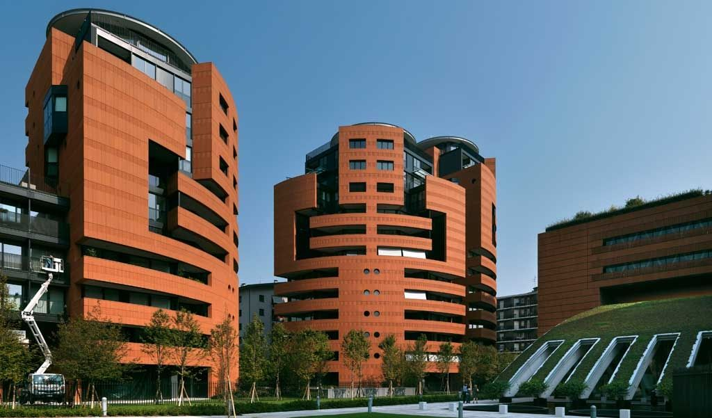 Campari headquarters and residences in Sesto San Giovanni, MIlan area, Arch. Mario Botta and Giancarlo Marzorati