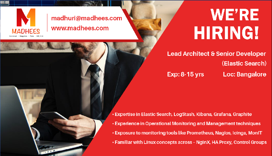 urgent requirement lead architect senior developer