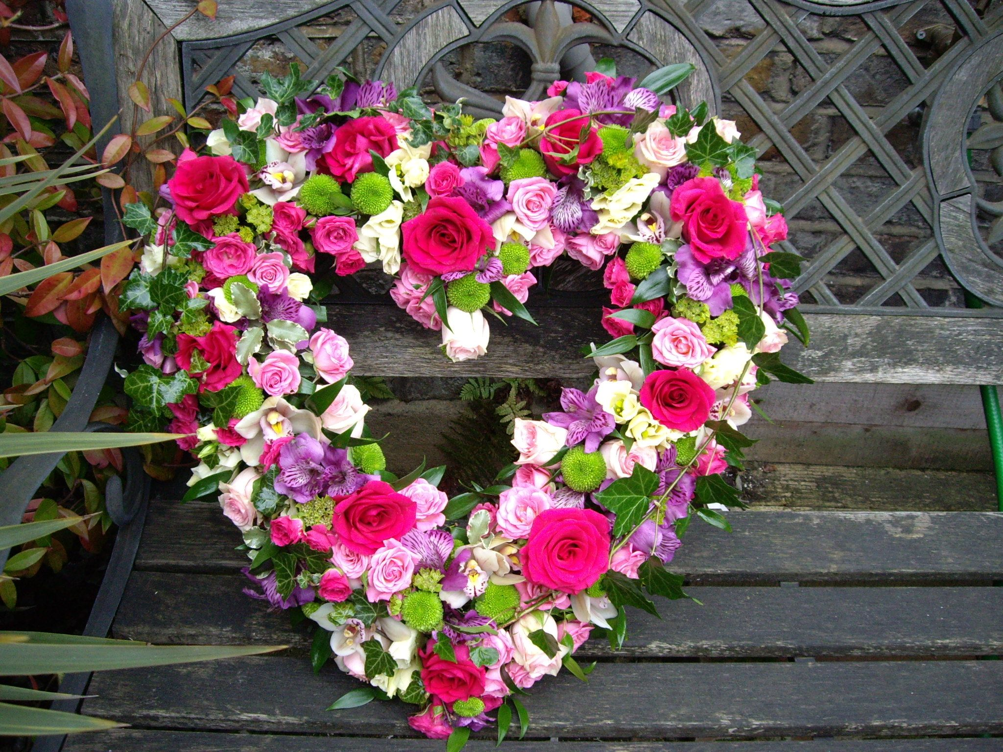 Loose heart full of summer flowers sympathy flowers pinterest west london flowers specialise in stunning wedding flowers bespoke funeral flowers and flowers for any occasion with over 20 years experience izmirmasajfo Images
