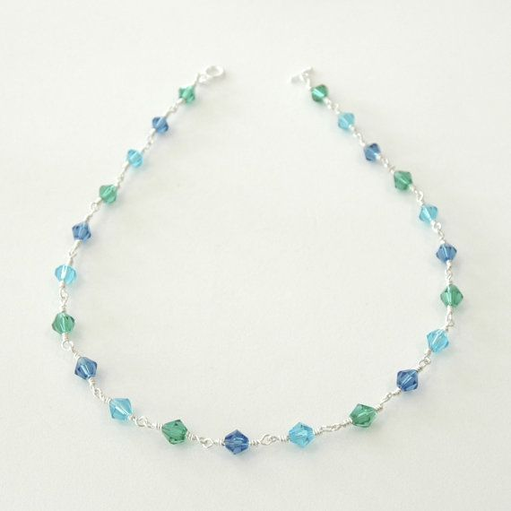 Aqua blue faceted necklace by JimDavisDesigns, $32.00